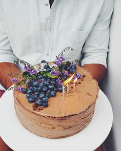 Birthday love for my love    The Classic Birthday Cake with Mocha Buttercream ✨ Find the gluten free ➕ vegan ➕ refined sugar free recipe (yesssss!) on the Hippie Lane App ☆ #letsparty #hippielaneapp @samgabrielian