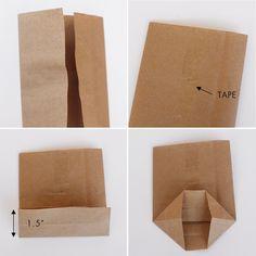 DIY Mini Paper Sacks (from Large Paper Sacks!)  