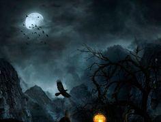 Создаём в Фотошоп ночной горный пейзаж