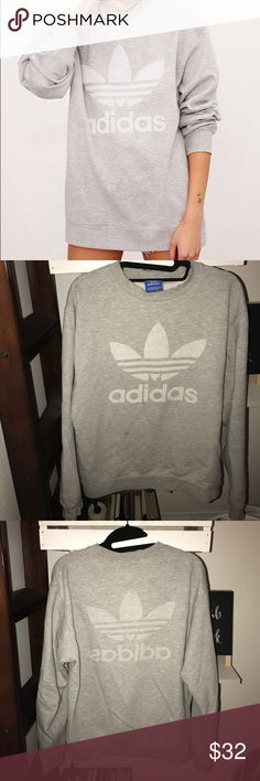 Adidas Crewneck Adidas Crewneck exclusive x Urban Outfitters | slight stain at the bottom captured in photo nothing too bad | still in great condition :-) Adidas Sweaters Crew & Scoop Necks