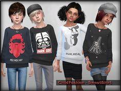 Lana CC Finds - ChildFashion - SweatShirt by ShojoAngel