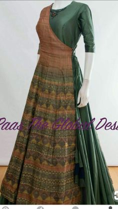 Saree renovation Sari suits - All About Pakistani Dresses, Indian Dresses, Indian Outfits, Indian Inspired Fashion, Indian Fashion, Frock Patterns, Saree Gown, Desi Clothes, One Piece Dress