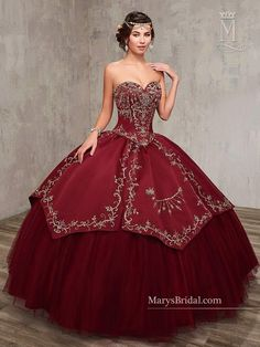 Shop for the latest 2020 Quinceanera dresses at ABC Fashion. Fall in love with these beautiful Sweet 15 gowns and find your dream dress today. Quince Dresses, 15 Dresses, Fashion Dresses, Pageant Dresses, Mexican Quinceanera Dresses, Quinceanera Ideas, Quinceanera Dresses Maroon, Quinceanera Collection, Mary's Bridal