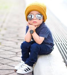 Hey Good Looking . Whatcha looking at 😎😎 Outfits Niños, Cute Baby Boy Outfits, Little Boy Outfits, Toddler Boy Fashion, Cute Kids Fashion, Little Boy Fashion, Stylish Little Boys, Stylish Baby, Stylish Kids