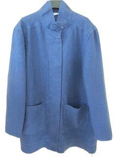 Comfort Linen jacket in Indigo