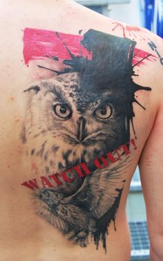 Tattoo-Foto: Eulen Cover-Up