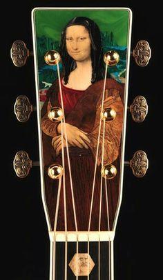 Headstock. Martin's 1.5 millionth guitar. Da Vinci Unplugged. | Guitars Galore | Pinterest | Martin s, Guitars and Mona lisa