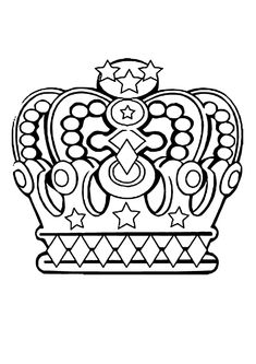 Free coloring page coloring6royalcrowns Royal crowns 6 patterns