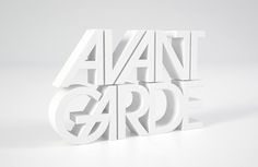3D Type by Make_Studio , via Behance