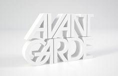 3D Type by Make_Studio , via Behance
