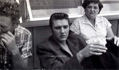 Vernon, Elvis and Gladys at Audubon drive in... - Elvis never left