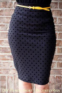 RecentlyRisa: DIY Pencil Skirt
