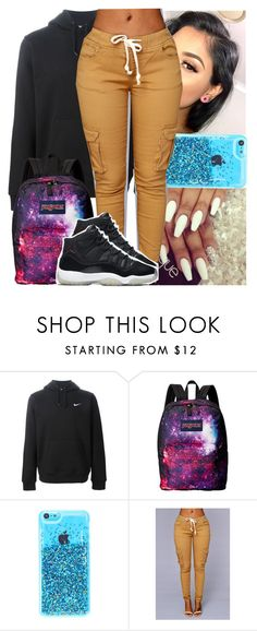 """Goodnight"" by naebreezy ❤ liked on Polyvore featuring NIKE, JanSport, women's clothing, women, female, woman, misses and juniors"