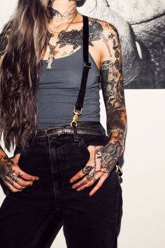 This is a good way to show that fashion can be enhanced by tattoos.