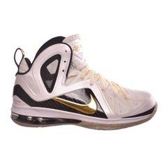 Nike Lebron 9 P.S. Elite Men\u0026#39;s Basketball Shoes White/Gold/Black White/Gold