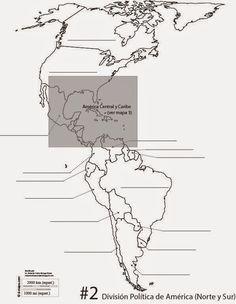 Mapas mudos de América.