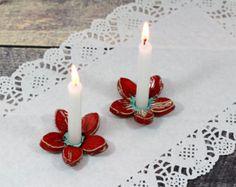 Linterna con diseño marroquí rojo: hecho a mano por QuigleyCeramics
