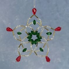 Image detail for -Bead Kits - A Touch Of Glass Christmas Bead Ornament Kits - DIY and Crafts Beaded Christmas Decorations, Christmas Ornaments To Make, Handmade Christmas, Holiday Crafts, Christmas Earrings, Miniature Christmas, Christmas Jewelry, Beaded Ornament Covers, Beaded Ornaments