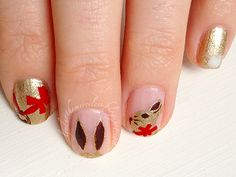 Lindt GOLD BUNNY manicure!