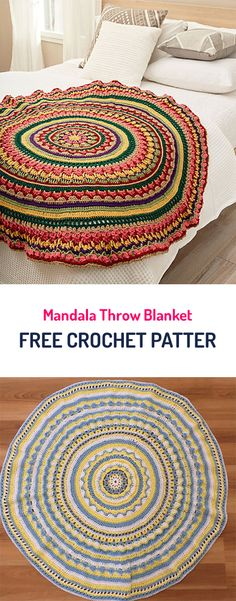 Mandala Throw Blanket Free Crochet Pattern #crochet #yarn #home #homedecor #crafts #style