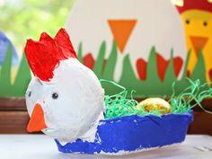 KLASSENKUNST: Osternest aus Eierkartons