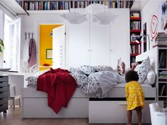 Round the ceiling bookshelf! (image and products from IKEA)