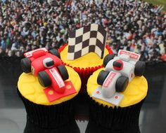 Grand Prix racing cars cupcakes 007 by Victorious Cupcakes, via Flickr