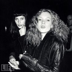 Kate Moss and Christy Turlington go out, have some fun.