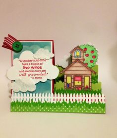 School House Side-Step Card by Lindsey89 - Cards and Paper Crafts at Splitcoaststampers