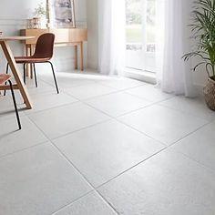 Metal ID Light grey Matt Concrete effect Porcelain Floor tile, Pack of 3, (L)600mm (W)600mm Tile Floor Diy, Ceramic Floor Tiles, Wall Tiles, Porcelain Floor, Insulated Garden Room, Kitchen Tiles, Interior And Exterior, Concrete, New Homes