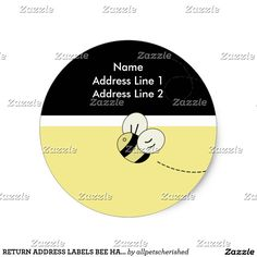 RETURN ADDRESS LABELS BEE HAPPY Bumble Bee