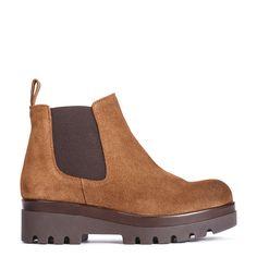 #zapatos #botín de la nueva colección #AW de #pedromiralles en color #marrón #shoponline