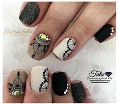Cute Acrylic Nails, Cute Nails, Diy Nails, Arabesque, Mandala Nails, Glow Nails, Diy Nail Designs, Autumn Nails, Trendy Nails