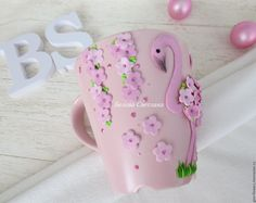 Mug Crafts, Clay Crafts, Porcelain Clay, Cold Porcelain, Cute Mug, Clay Mugs, Pasta Flexible, Do It Yourself Projects, Cup Design
