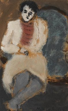 Milton Avery – Untitled (Sitter), 1940; oil on paper laid down on board, 8.75x5.75 in