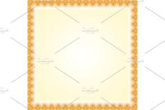 Oriental vector golden frame with damask, arabesque and floral pattern. Damask Patterns, Arabesque, Oriental, Abstract, Frame, Floral, Summary, Picture Frame, Flowers