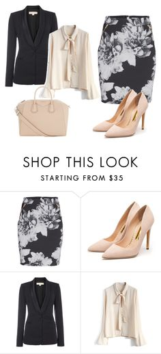 """""""Work Outfit"""" by bipolarstar on Polyvore featuring Rupert Sanderson, Michael Kors, Chicwish and Givenchy"""