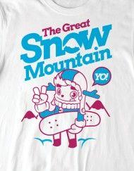 Camiseta inspiradora para os fãs de picos gelados e neve.