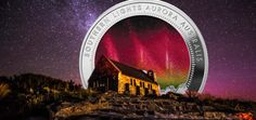 2017 Southern Lights Silver Holographic Coin from New Zealand Mint Coins, Holographic, New Zealand, Southern, Lights, Nature, Silver, Naturaleza, Money