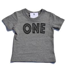 Is your little one turning one? We have a simple, yet modern tee available for your soon-to-be one year old. Available in both a tee and raglan style in sizes 6-12mo and 12-18mo in a comfy triblend he