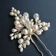 Bridal Flower Hair Pin ANN Hair Pin Wedding от adrianasparksacc