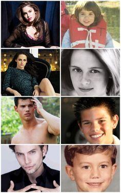 Nikki Reed, Kristen Stewart, Taylor Lautner, and Jackson Rathbone: Then and Now