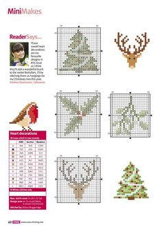 Brilliant Cross Stitch Embroidery Tips Ideas. Mesmerizing Cross Stitch Embroidery Tips Ideas. Small Cross Stitch, Cross Stitch Cards, Cross Stitch Designs, Cross Stitching, Cross Stitch Embroidery, Christmas Sewing, Christmas Embroidery, Christmas Minis, Cross Stitch Christmas Ornaments