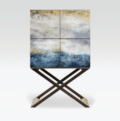 Sneak peek #Focus16 - This 'Club' bar cabinet @armani_casa is a limited edition of 50 numbered and signed pieces - made by hand with doors in an Ocean lacquer finish reminiscent of The Great Wave by Hokusai www.dcch.co.uk/Focus16-Product-Highlights