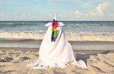 Yikes Twins Unicorn Hooded Towel | Etsy Baby Towel, Swim Lessons, Beach Kids, Birthday Gifts For Girls, Polar Fleece, Girl Gifts, Rainbow Colors, Baby Animals, Hoods