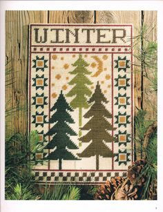 Winter Evergreen Wall Hanging Pg. 1/3
