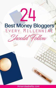 Here is a list of the 24 best money bloggers for millennials! Savings Planner, Budget Planner, Money Tips, Money Saving Tips, Saving For Retirement, Managing Your Money, Money Matters, Blogging For Beginners, Finance Tips