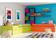Dormitorio juvenil dos camas modulares CUBO