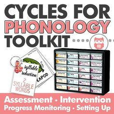 Everything you need to target phonology using the cycles approach. Includes flashcards that can be put into a toolbox, assessment pages, progress monitoring sheets, and much more! A speech and language therapy must have, especially for preschool. From Speechy Musings.