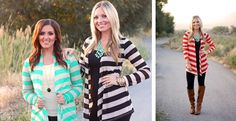 Cute striped sweaters paired with leggings via @Jane Izard's store